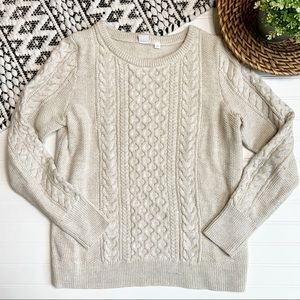 GAP Cream Colored Cable Knit Sweater